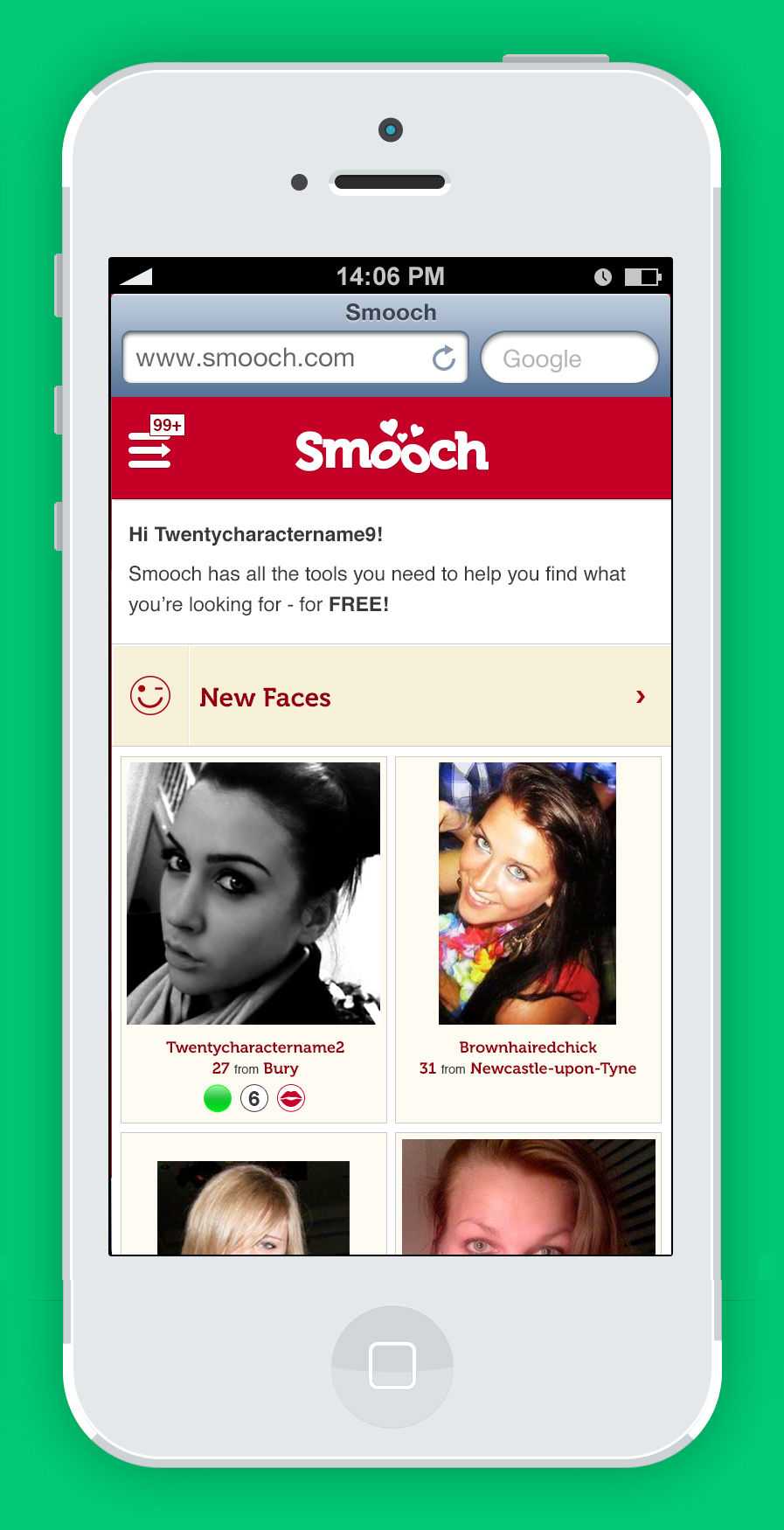 Site Smooch.com At Free Completely Dating