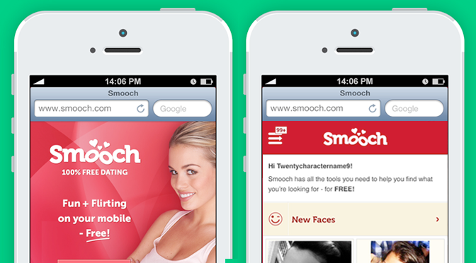 Smooch Mobile Site