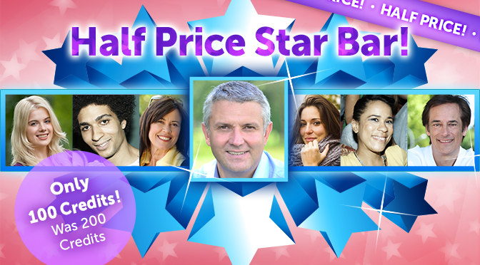 Half Price Star Bar!